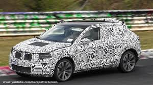 spyvideo 2018 vw polo suv t roc testing on the nurburgring