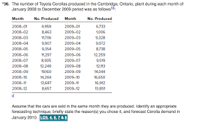toyota number the number of toyota corollas produced in the camb chegg com