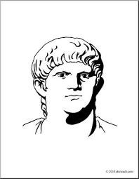 clip art ancient rome nero coloring abcteach abcteach