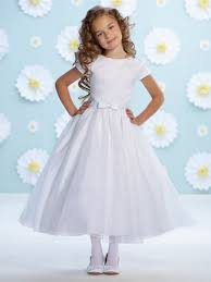 joan calabrese communion dresses calabrese white organza bow belt flower girl dress