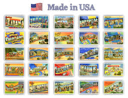 greetings from american states vintage reprints ca