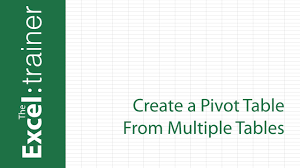 youtube pivot tables 2016 excel 2013 2016 create a pivot table from multiple tables youtube