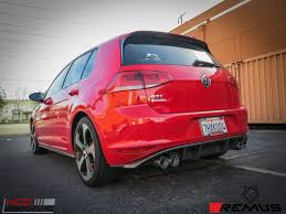 volkswagen gti 2015 custom remus sport exhaust for 2015 vw golf gti mk vii 955113 1500