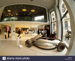 the toyota concept cars and show cars in the toyota flagship store on the