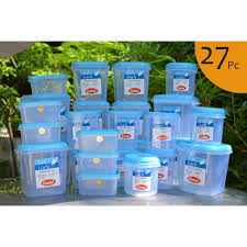 Kitchen Canisters Online by Buy Chetan Set Of 27 Pcs Plastic Airtight Kitchen Storage