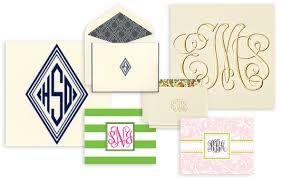 monogram stationery monogrammed stationery studio notes