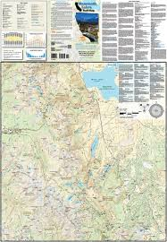 Pacific Crest Trail Washington Map by Mammoth Lakes California Adventure Maps