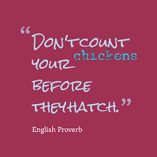 Don Count The Chicken Before They Hatch Picture Proverb About Plans Quotescover Com