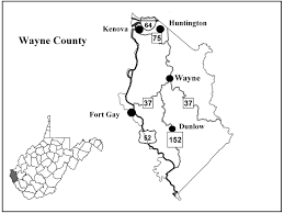 Virginia Map Of Counties by Wayne County Center For Excellence In Disabilities