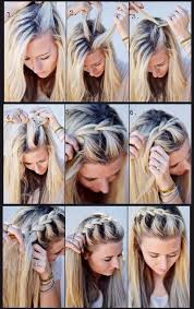 hair styles with ur face in it how to french braid your hair out of your face hair pinterest