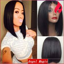 center part bob hairstyle virgin brazilian short middle part bob wigs for black women