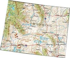 map of wyoming map of wyoming wy state map