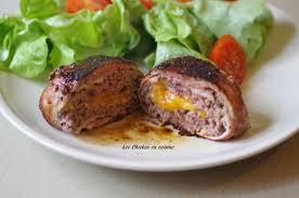 cuisiner steak haché ballottine de boeuf haché au fromage et au lard les chickas en