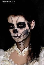scary skull face makeup tutorial