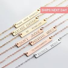 personalized necklaces for women inspirational necklace personalized bar necklace for women