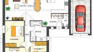 plan maison simple 3 chambres plan maison individuelle 3 chambres 102 habitat concept newsindo co