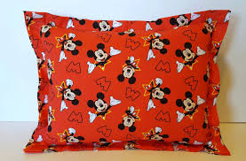 mickey mouse handmade daycare pillow mickey pillow travel pillow