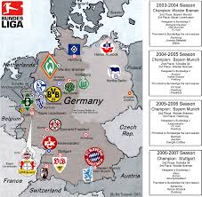 stuttgart on map german football bundesliga map 2003 2007 billsportsmaps com