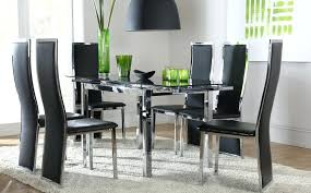 Glass Dining Sets 4 Chairs Black Dining Table 4 Chairs Glass Top Dining Table For Four