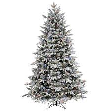 tree pre lit flocked tree shop vickerman ft