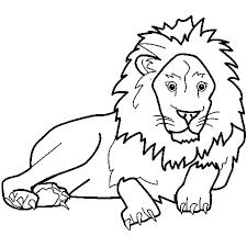 Coloriage Animaux Lion en Ligne Gratuit à imprimer