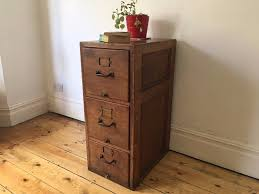 beautiful antique 3 drawer solid oak filing cabinet drawers
