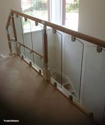 Banister Railing Parts S Vision Glass Balustrade System Oak Handrails Stair Banister