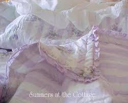 rachel ashwell shabby chic lavender cabana stripe ruffles roses