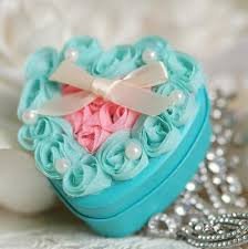 Blue Favor Boxes by Wedding Favor Boxes New Blue Color Metal With Pink Gauze