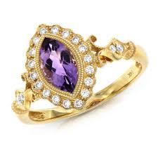 diamond king rings images Martin binder 14 karat yellow gold diamond and amethyst ring jpg