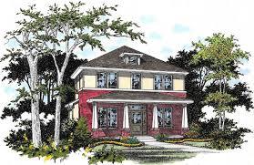 four square house plans craftsman foursquare house plan 31125d architectural designs