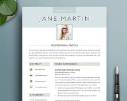 Resume Template Downloads Free Free Resume Template Etsy