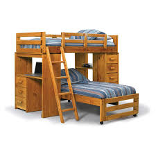 kids loft bed with desk the wooden floor creative storage bump
