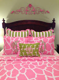 Giraffe Bed Set Bedding Pink Giraffe Print Crib Toddler Duvet Bedding Comforter
