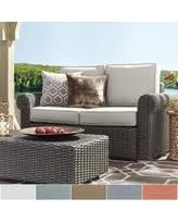 spectacular deal on barbados wicker outdoor cushioned grey