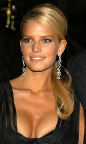jessica simpson elegant ponytail u0026 earrings perfect hair