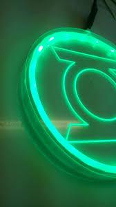 green lantern neon light green lantern chest piece with led rgb strip lights light up