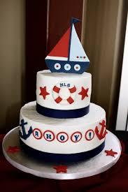 nautical cake sailboat baby shower cakes party xyz