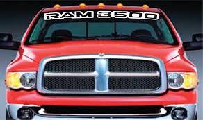 Dodge Ram Decals - vinyl windshield banner decal stickers fits dodge ram 3500 u2013