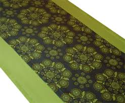 a greener kitchen organic cotton table runners green