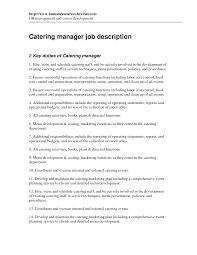 Draftsman Job Description Resume by Catering Job Description For Resume Free Resume Example And