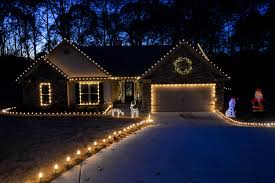 How To String Lights On Outdoor Tree Branches by Outdoor Christmas Decorating Ideas Yard Envy