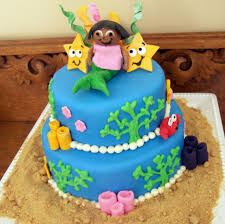 mermaid dora cake sugar shindigs