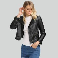 buy biker jacket aliexpress com buy leather biker jacket casual long sleeve