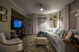 title artistic interiors interior design magazine miami fl title the media room which we believed was once a bedroom has been decorated in the same warm gray and white palette and coastal feel though we threw in touches