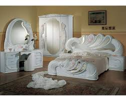 bedroom set made in italy white finish 44b8411w