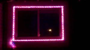 pvc christmas light frames mini christmas light window test youtube