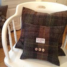 autumn bracken harris tweed cushion by the tweed workshop at