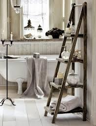 bathroom diy home furniture standing 4 tier wooden ladder shelf