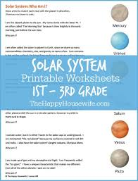 solar system worksheets free printables the happy housewife